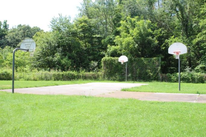 Basketball courts at Burchwood Park